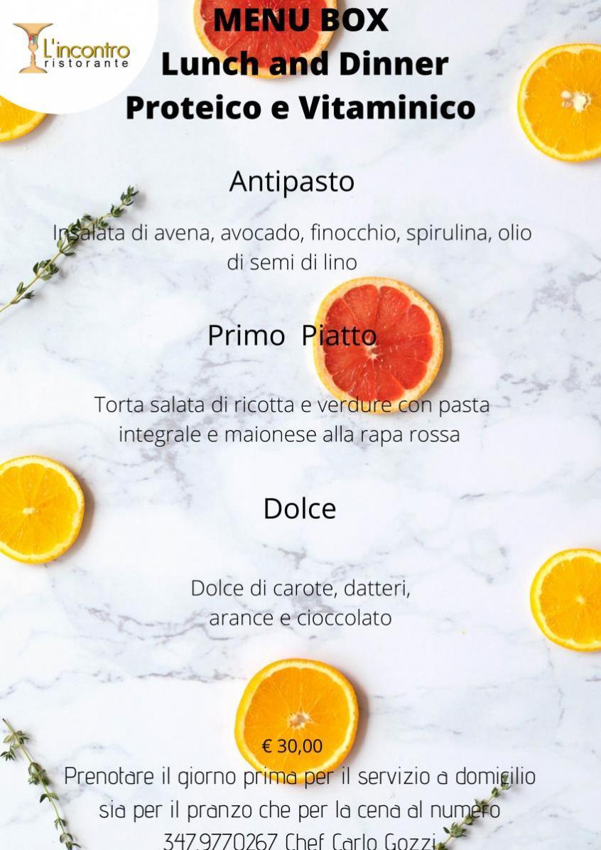 MENU BOX Lunch and Dinner Proteico e Vitaminico
